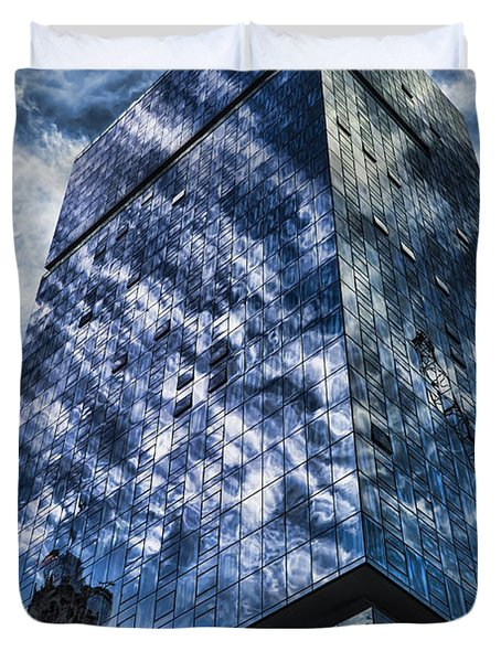 Urban Clouds Reflecting  Duvet Cover