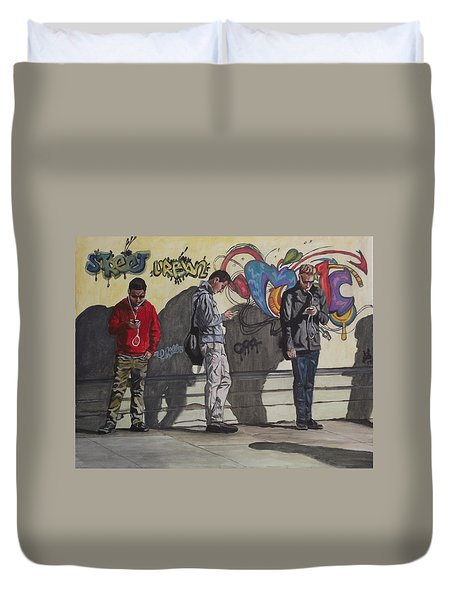 Urban Connection Duvet Cover by Kim Selig