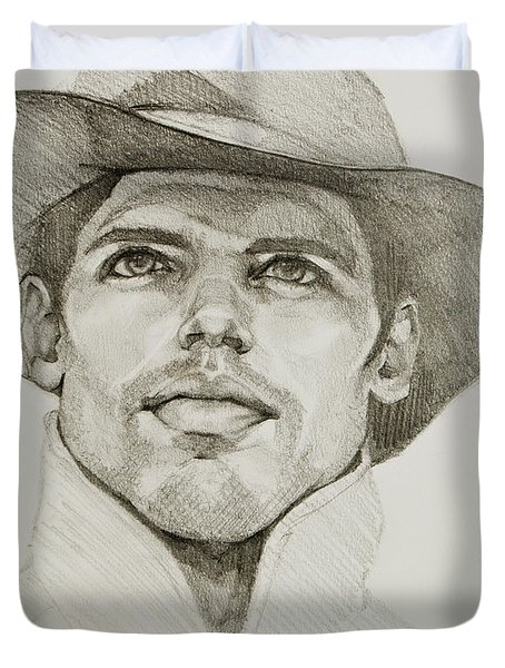 Urban Cowboy Bw Duvet Cover