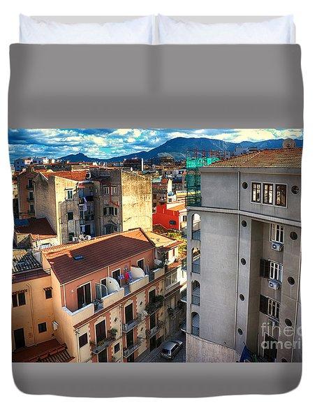 Urban Landscape In Palermo Duvet Cover