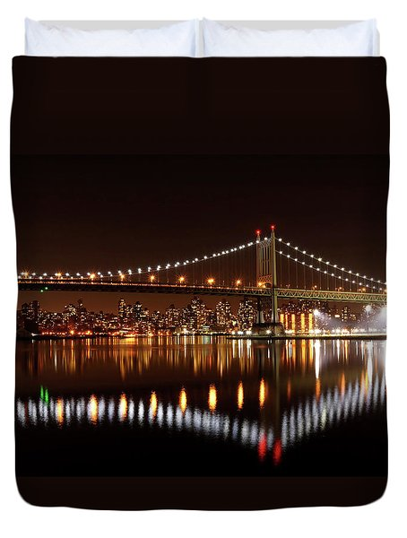 Triboro Bridge Brilliance Duvet Cover