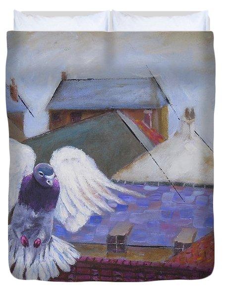 Urban Pigeon Duvet Cover