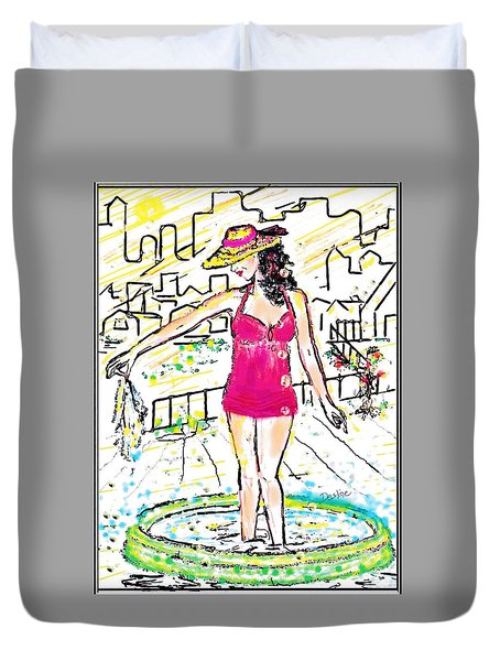 Urban Poolside Duvet Cover