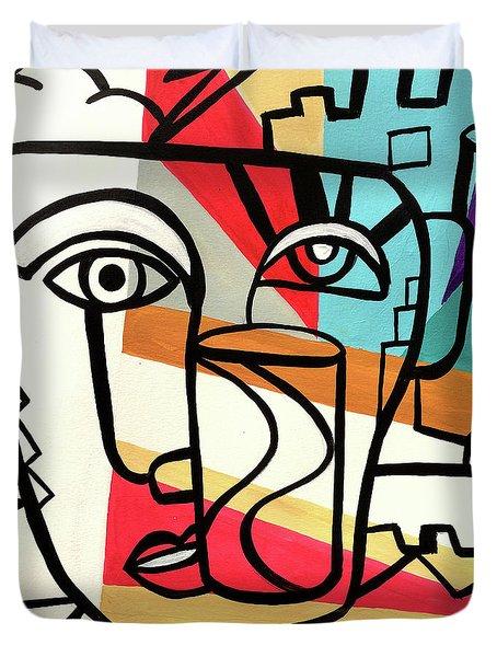 Urban Pop Art - Original Art Print Duvet Cover