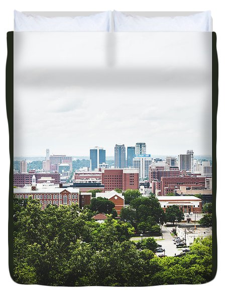 Duvet Cover featuring the photograph Urban Scenes In Birmingham  by Shelby Young