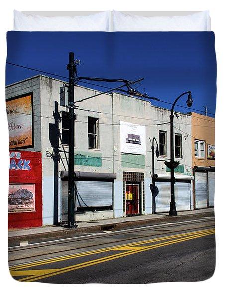 Urban Street Life Duvet Cover