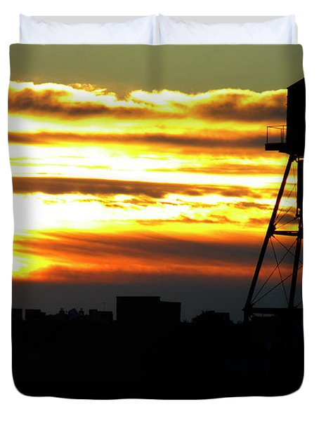 Urban Sunrise Duvet Cover