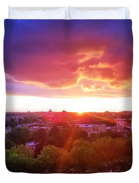 Urban Sunset Duvet Cover