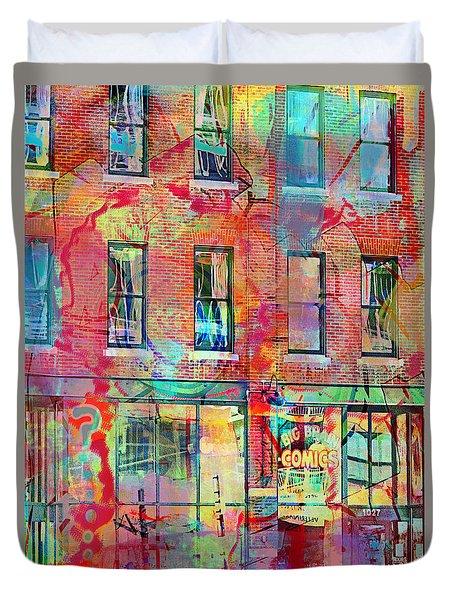 Urban Wall Duvet Cover by Susan Stone