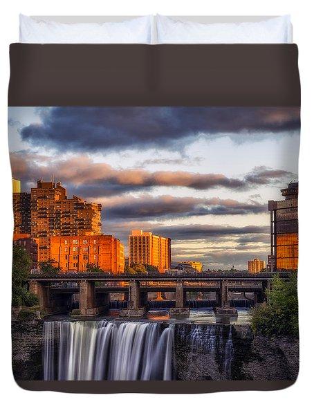Urban Waterfall Duvet Cover