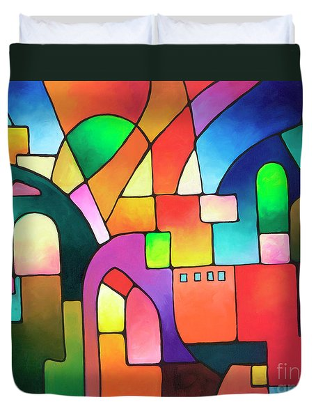 Urbanity Duvet Cover by Sally Trace
