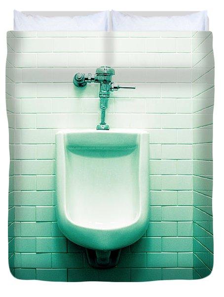 Urinal In Men's Restroom. Duvet Cover by John Greim