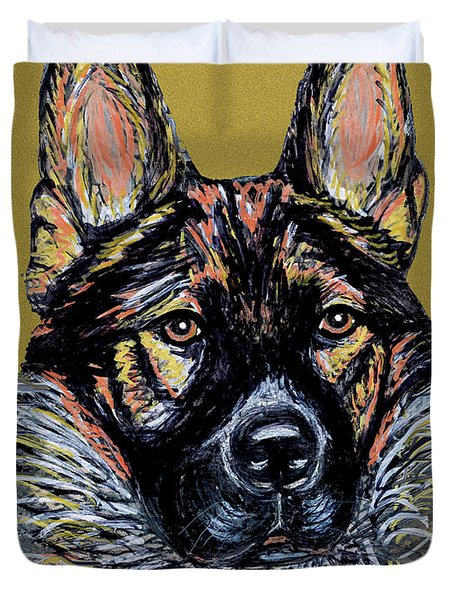 Duvet Cover featuring the painting Urlike Gsd by Ania M Milo