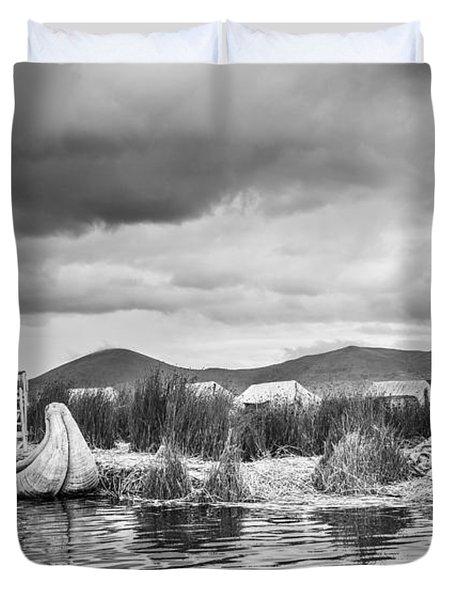 Uros Floating Island Duvet Cover