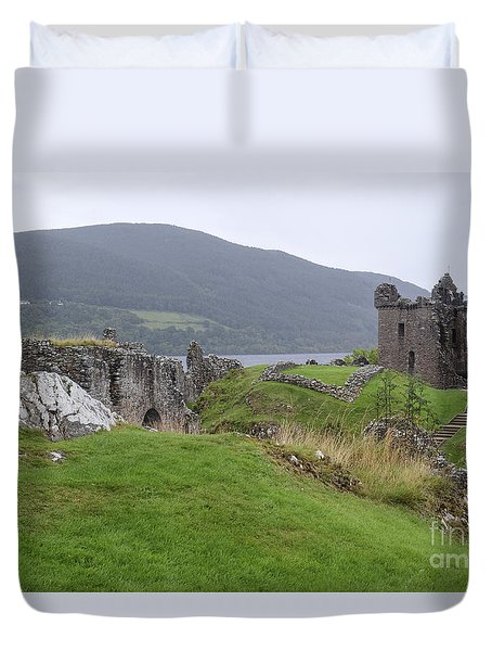 Urquhart Castle - Drumnadrochit Duvet Cover by Amy Fearn