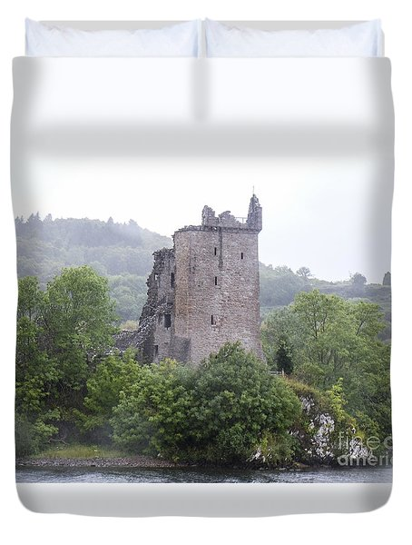 Urquhart Castle - Grant Tower Duvet Cover by Amy Fearn