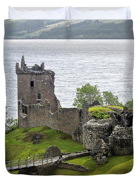 Urquhart Castle On Loch Ness Duvet Cover