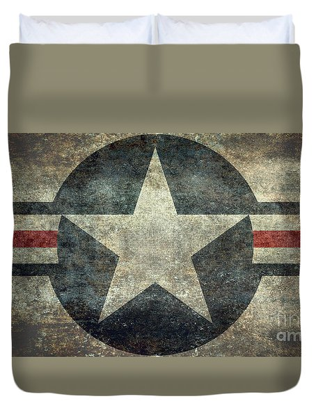Us Air Force Roundel With Star Duvet Cover
