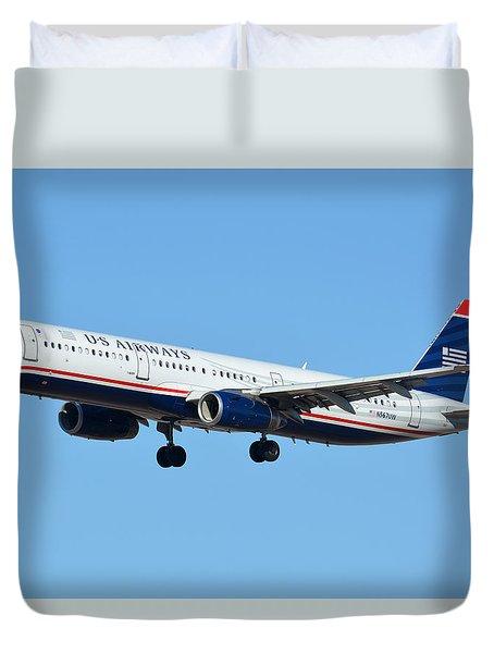 Us Airways Airbus A321-231 N567uw Duvet Cover