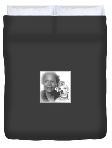 Duvet Cover featuring the photograph US by Angela J Wright