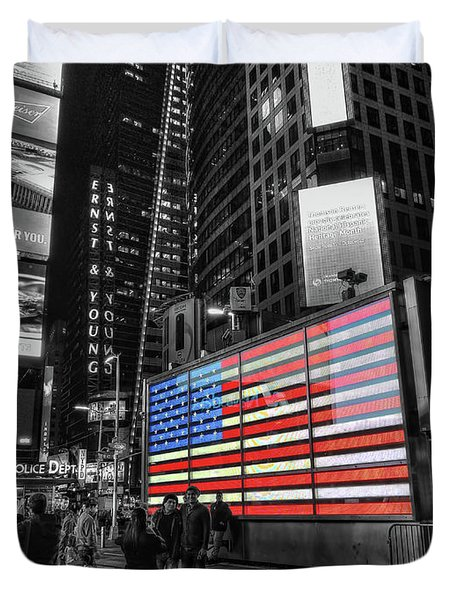 U.s. Armed Forces Times Square Recruiting Station Duvet Cover