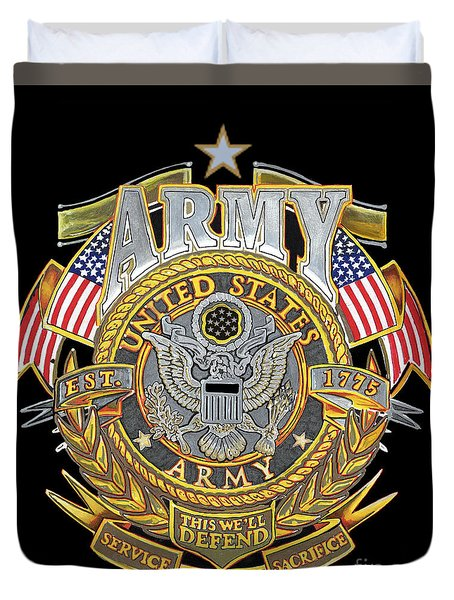 Us Army Duvet Cover by Bill Richards