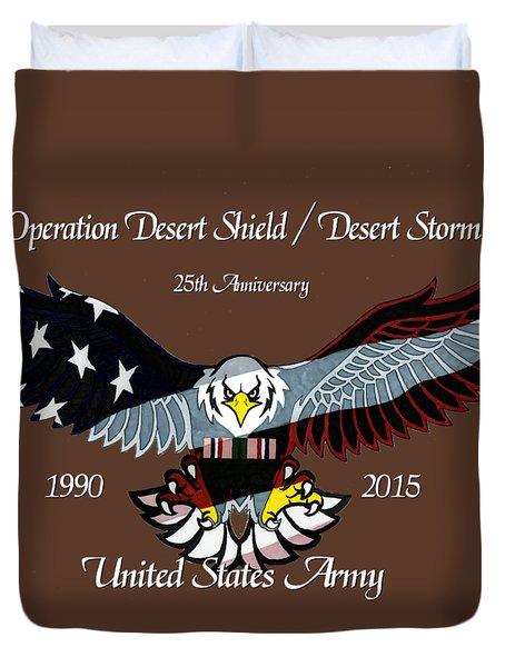 Us Army Desert Storm Duvet Cover by Bill Richards