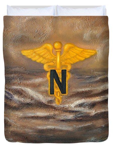 U.s. Army Nurse Corps Desert Storm Duvet Cover by Marlyn Boyd