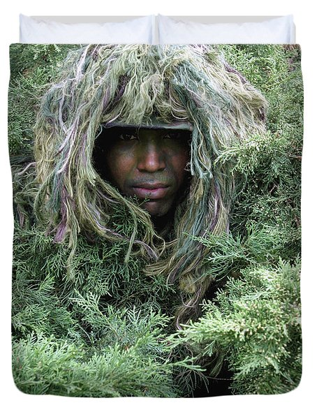 U.s. Army Soldier Demonstrates The Use Duvet Cover by Stocktrek Images