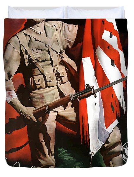 Us Army -- World War Two Propaganda Duvet Cover