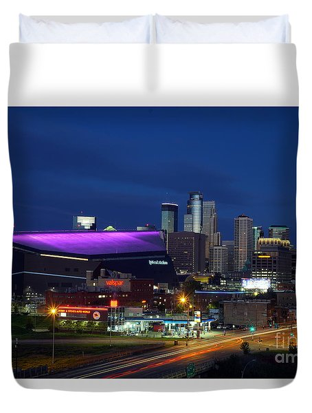 Us Bank Stadium Duvet Cover