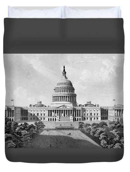 Us Capitol Building Duvet Cover by War Is Hell Store