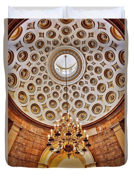 Duvet Cover featuring the photograph Us Capitol Rotunda Washington Dc by Susan Candelario
