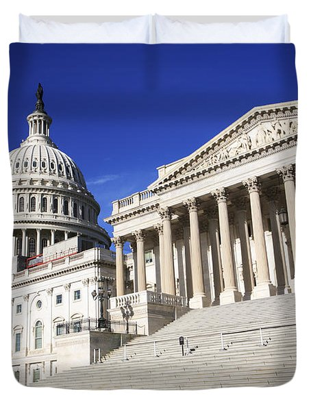 Us Capitol Up Close In Washington Dc Duvet Cover