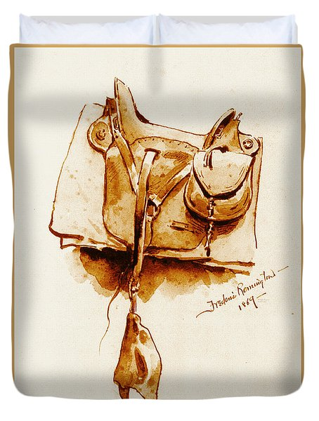 Us Cavalry Saddle 1869 Duvet Cover