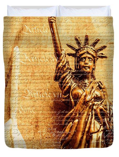 Us Constitution Duvet Cover