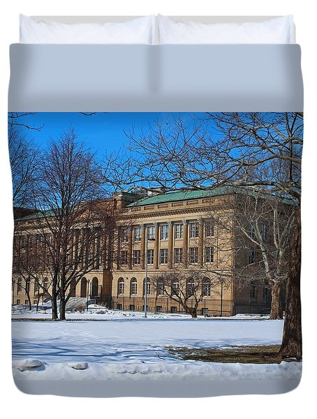 Us Court House And Custom House Duvet Cover