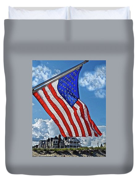 Us Flag,ocean Grove,nj Flag Duvet Cover