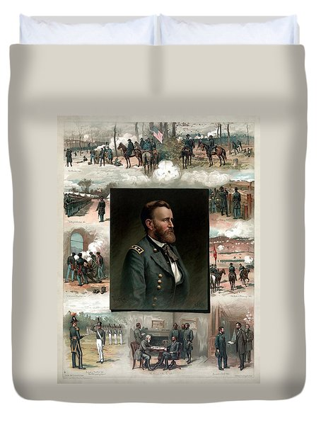Us Grant's Career In Pictures Duvet Cover by War Is Hell Store