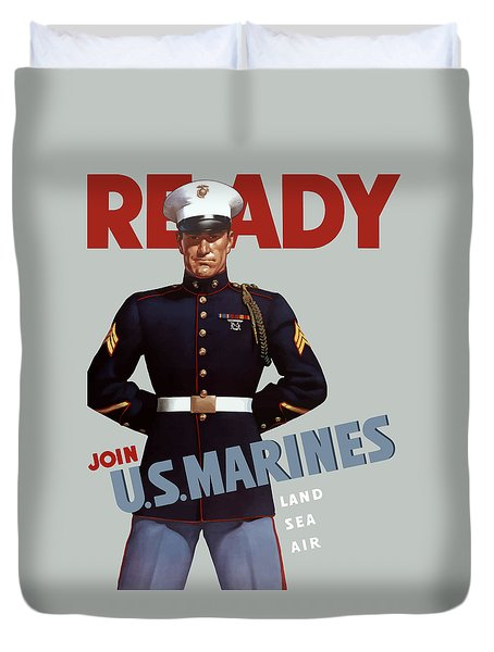 Us Marines - Ready Duvet Cover