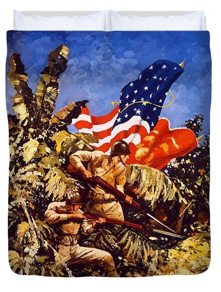 Us Marines - Ww2  Duvet Cover