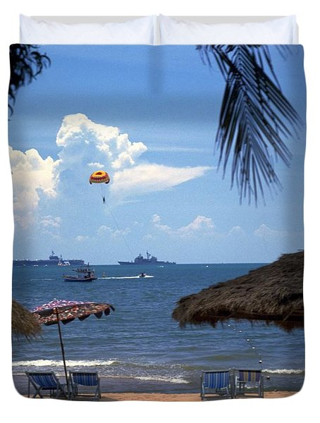 Us Navy Off Pattaya Duvet Cover