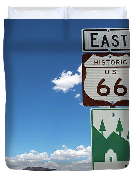 Us Route 66 Sign Arizona Duvet Cover