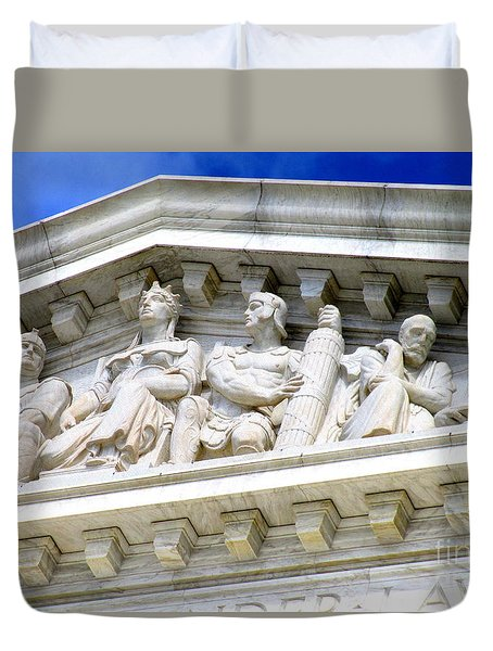 Us Supreme Court 4 Duvet Cover by Randall Weidner
