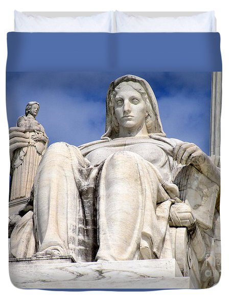 Us Supreme Court 7 Duvet Cover by Randall Weidner