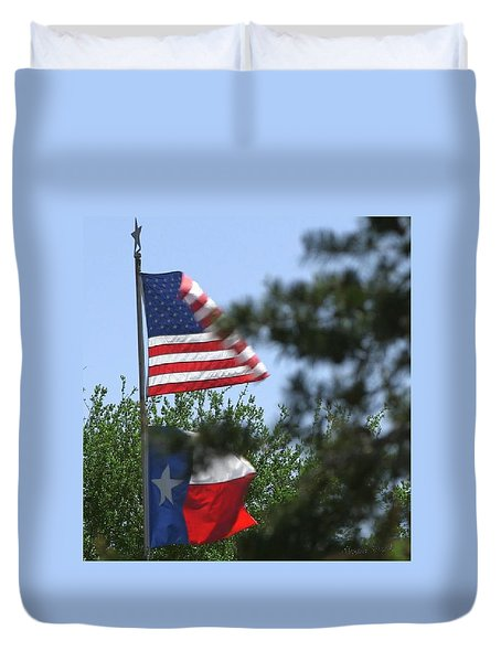 Usa Blesses Texas Duvet Cover