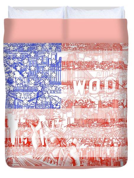 Usa Flag 1 Duvet Cover