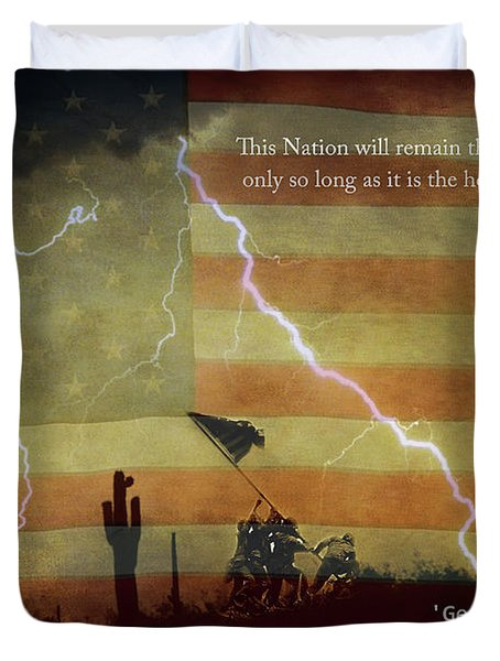 Usa Patriotic Operation Geronimo-e Kia Duvet Cover by James BO  Insogna