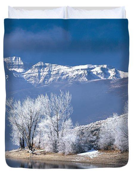 Usa, Utah, Deer Creek State Park Duvet Cover by Panoramic Images