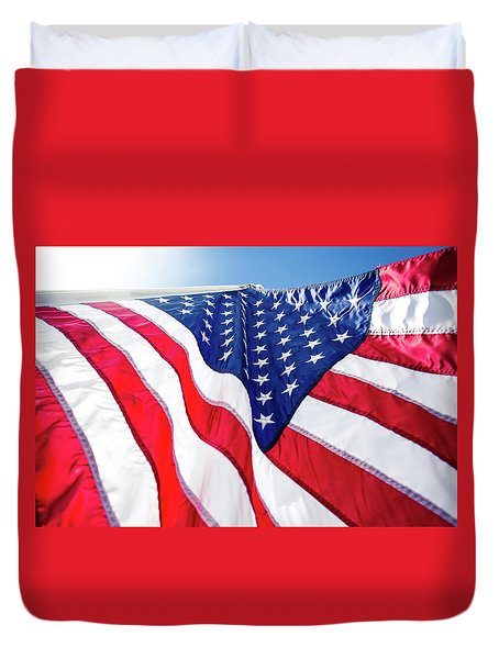 Usa,american Flag,rhe Symbolic Of Liberty,freedom,patriotic,hono Duvet Cover